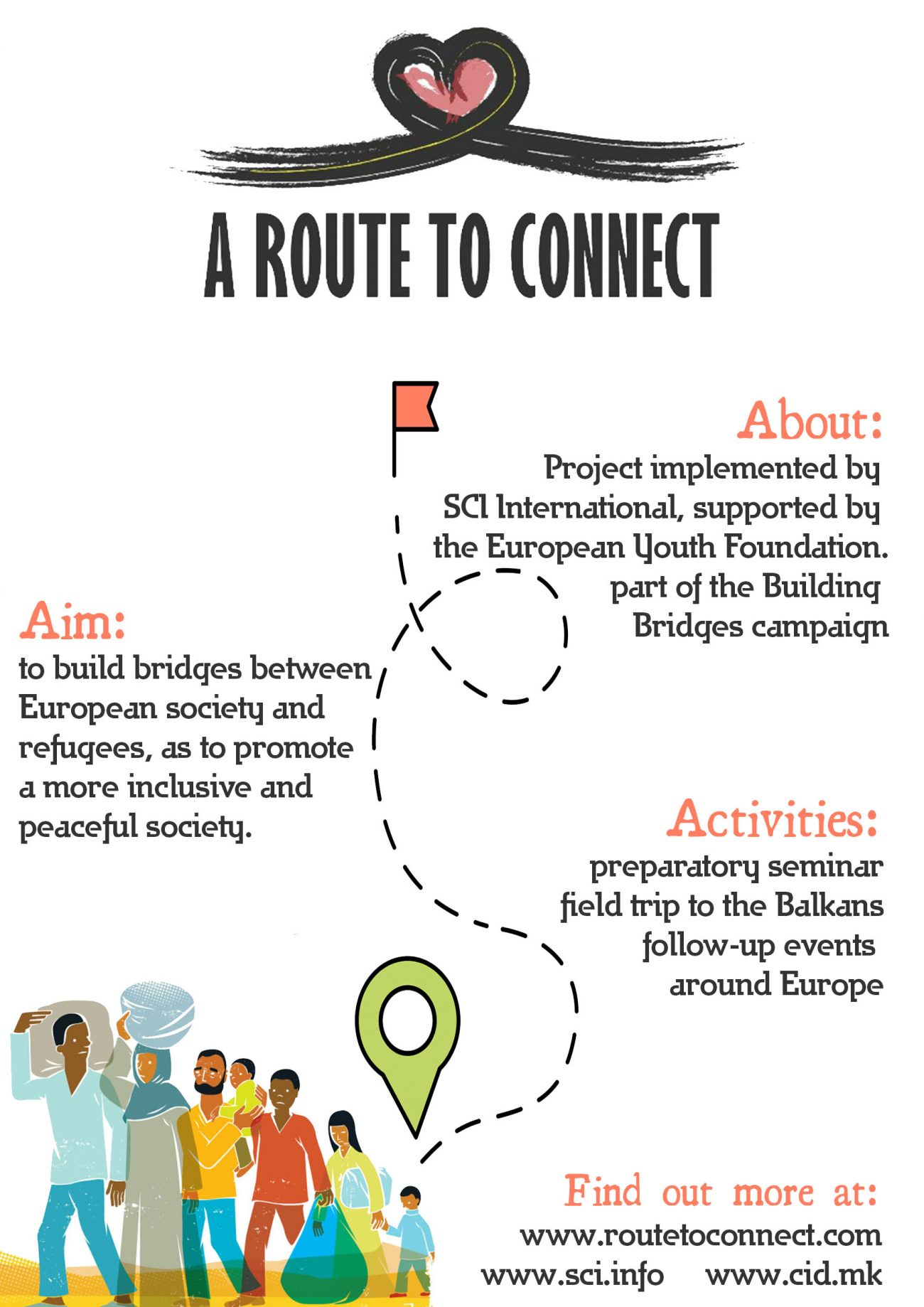 "flyer ""The Journey"" - a publication event"