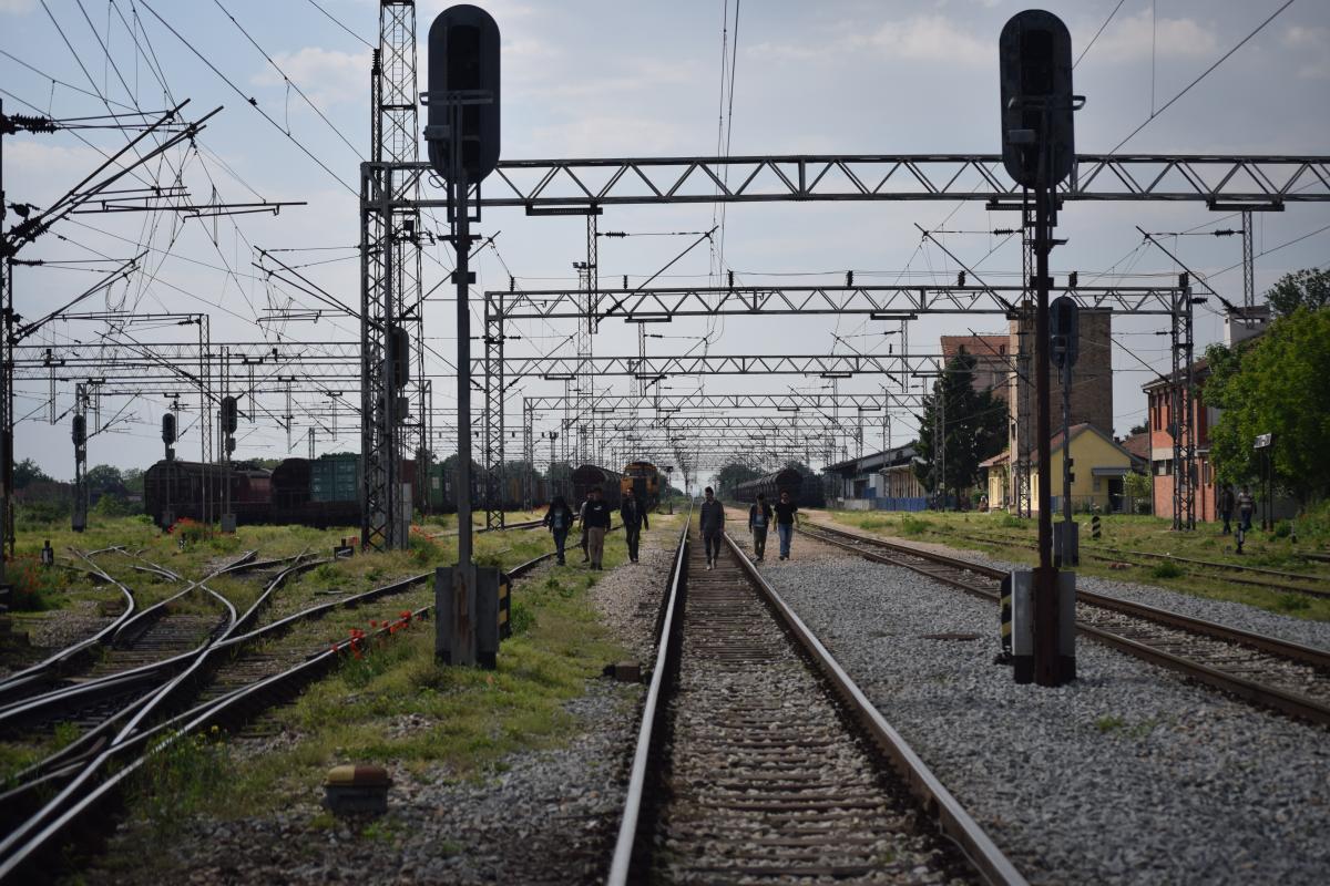 train tracks Šid Serbia