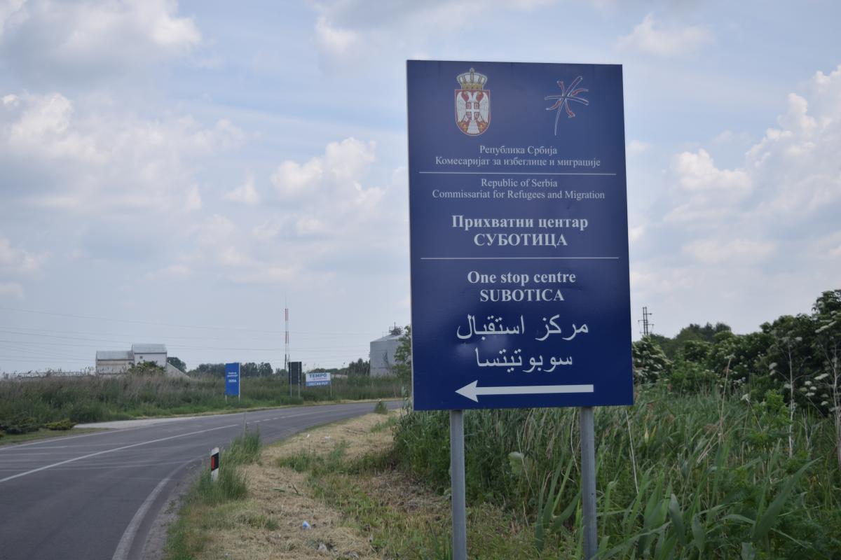 Refugee Camp in Subotica Serbia