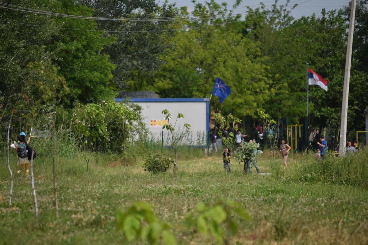 Outside the Refugee Camp Subotica Serbia