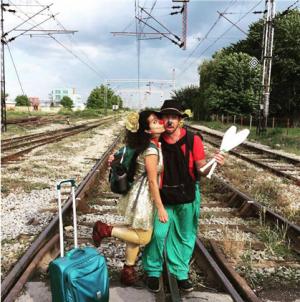 Sabine and Clay clowns in Šid Serbia