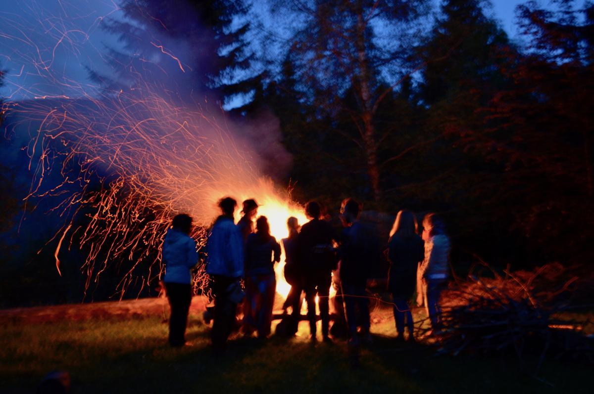 Campfire Pohorje Slovenia