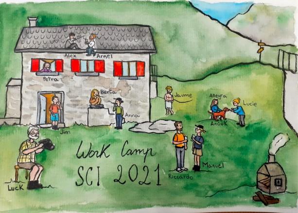 SCI Switzerland workcamp in the mountains
