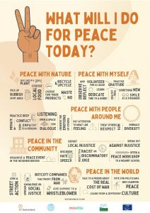 What will I do for peace today poster