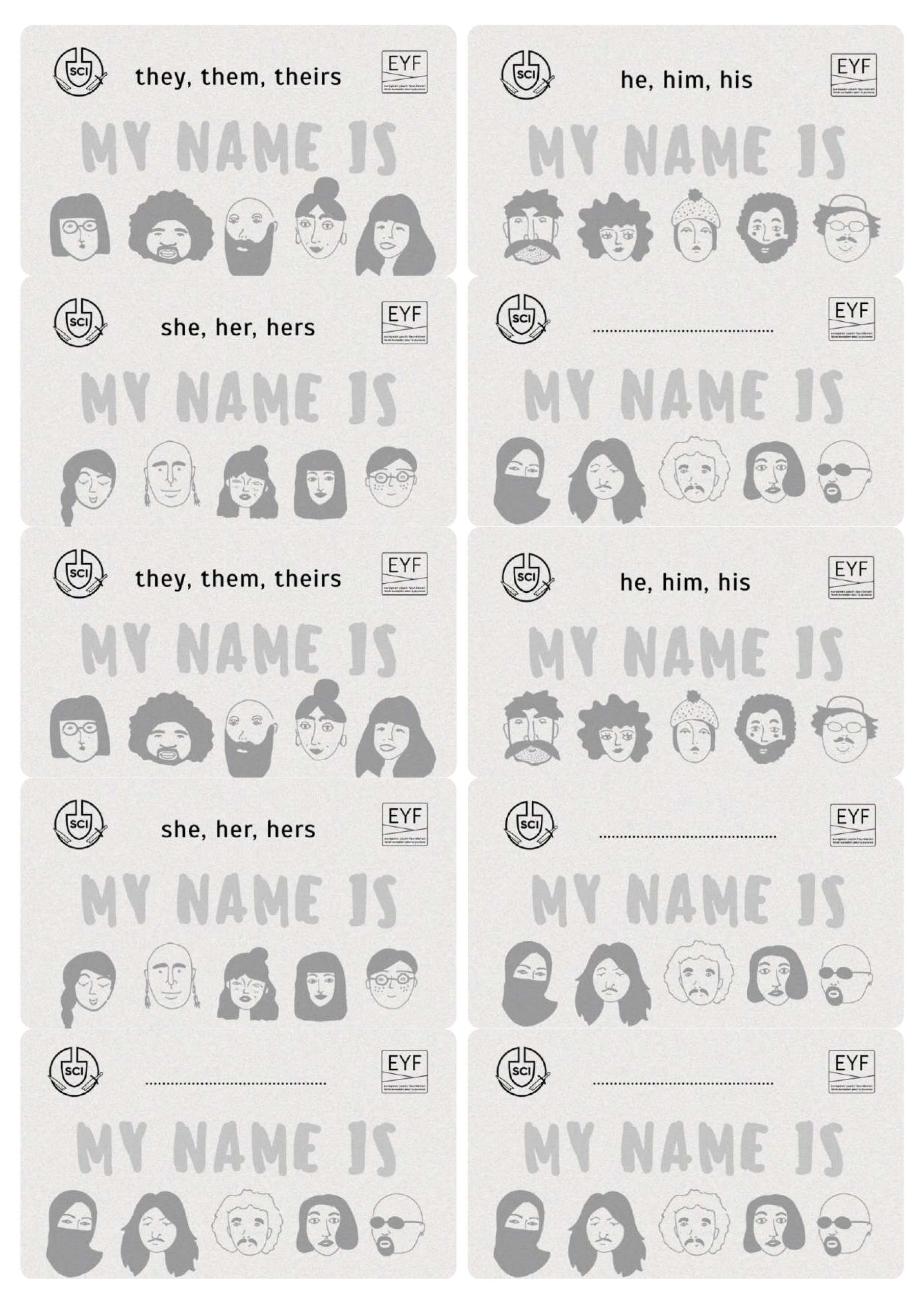Gender-sensitive name tags