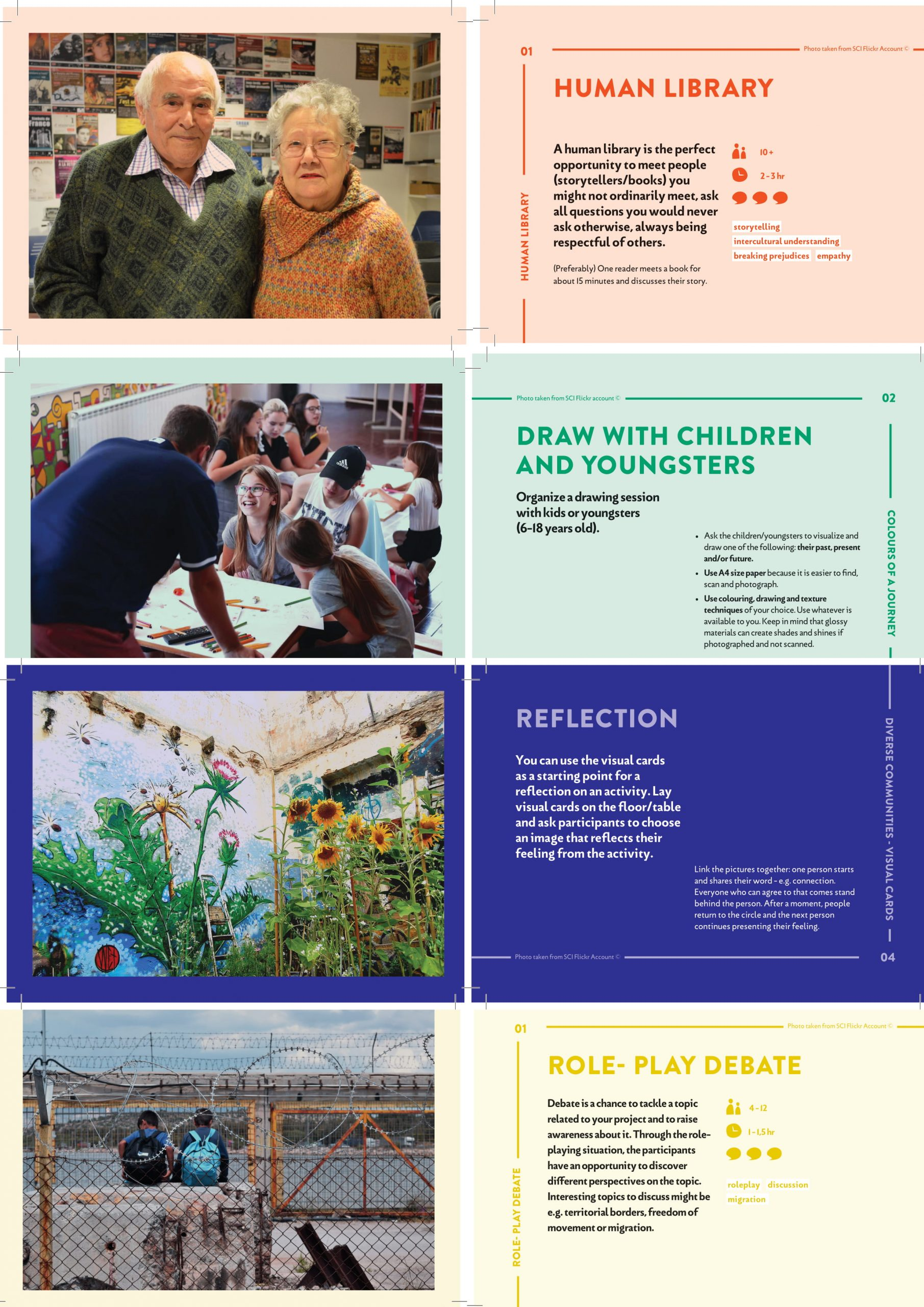 Diverse Communities – visual method cards